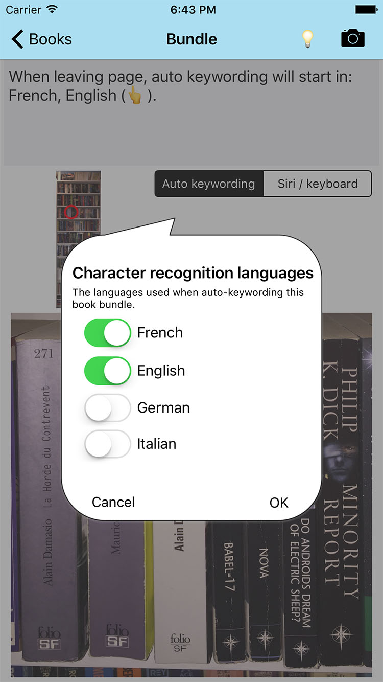 Find that Book - choosing languages
